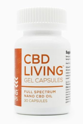 CBD Living 25 MG – 30 Count Gel Capsules
