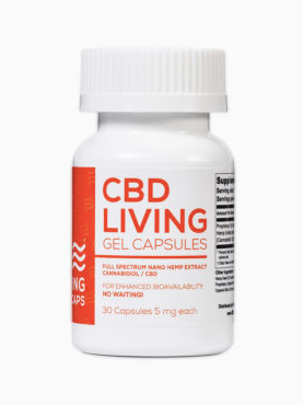 CBD Living 5 MG – 30 Count Gel Capsules