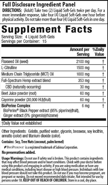Irwin Naturals CBD RED™ +Nitric Oxide Booster* - 60ct