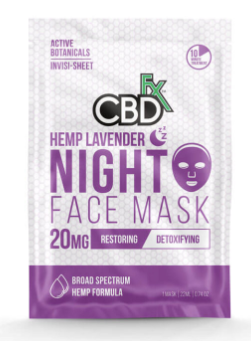 CBDfx - Lavender Night Time Face Mask