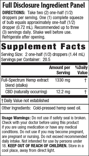 Irwin Naturals CBD Oil – Unflavored 250mg