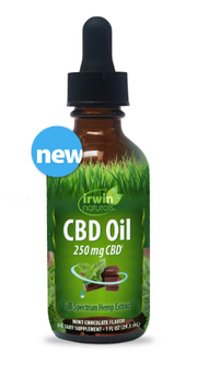 Irwin Naturals CBD Oil – Mint Chocolate 250mg