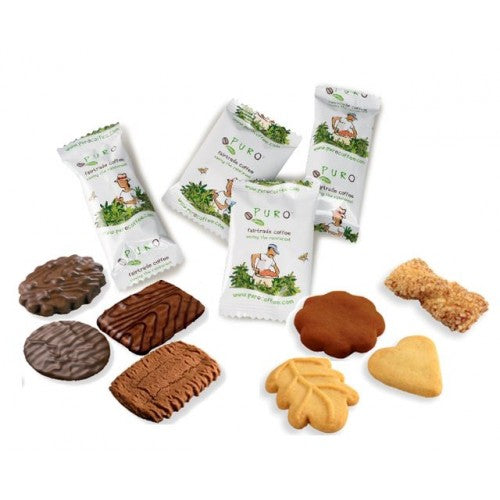 Puro Buenaventura Belgian Chocolate Coated Butter Cookie Selection - Winter Mix