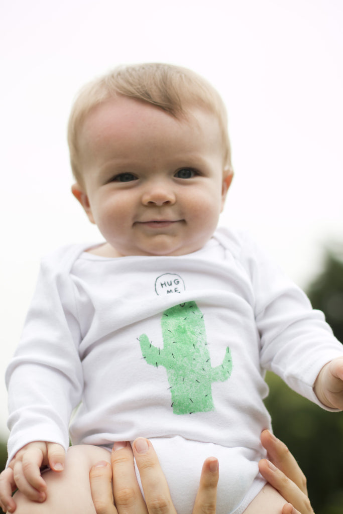 Hand Painted Cactus Babygro-We Are Hairy People