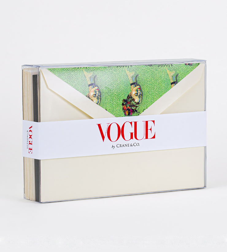 Vogue x Crane Boxed Notecards, Set of 10 - Elegante
