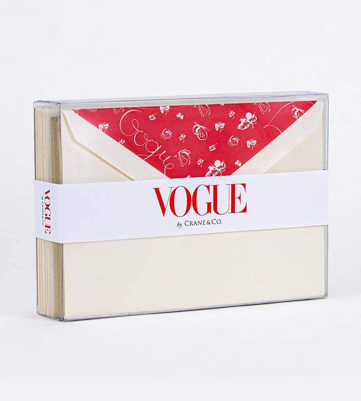 Vogue x Crane Boxed Notecards, Set of 10 - Papillon