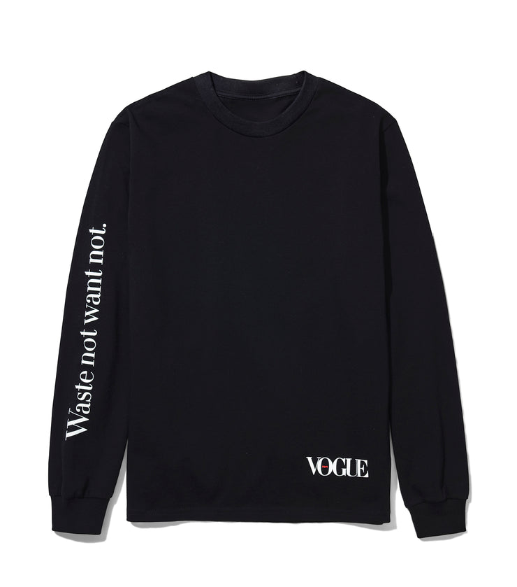 Vogue x Public School Black Long-Sleeve Tee