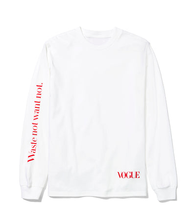 Vogue x Public School White Long-Sleeve Tee