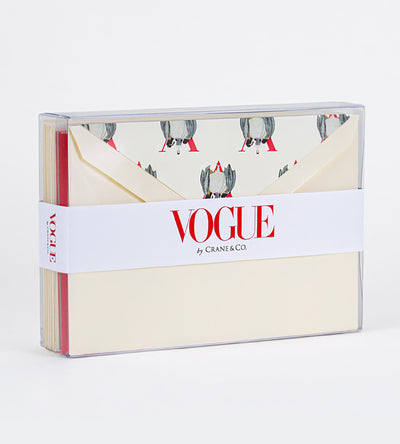 Vogue x Crane Boxed Notecards, Set of 10 - Flapper