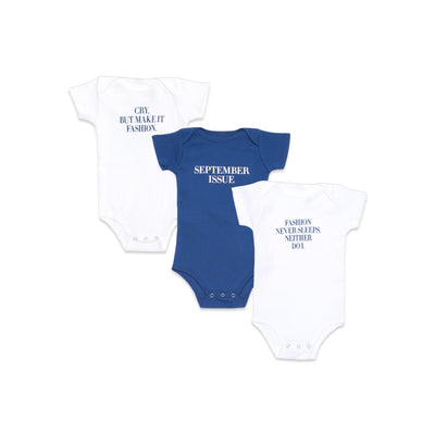 Vogue x Maisonette Baby Onesie Set - Blue