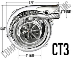 Comp Turbo - CT3 5858 Billet Journal Bearing Turbocharger