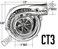 Comp Turbo - CT3 6262 Billet Journal Bearing Turbocharger