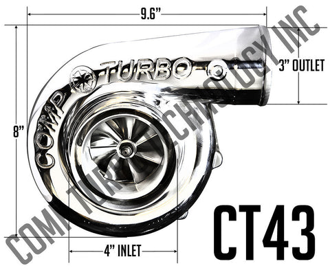Comp Turbo - CT43 7275 Billet Ball Bearing Turbocharger