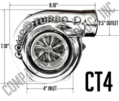 Comp Turbo - CT4 5858 Billet Journal Bearing Turbocharger