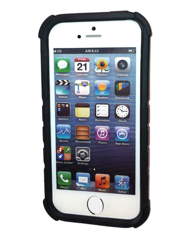 Rugged Bottle Opener iPhone 5/5S/5C and New SE Case - Black