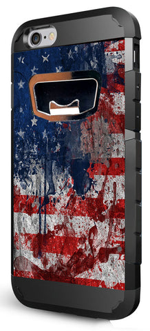 Rugged Bottle Opener iPhone 6 4.7 in Case - American Flag