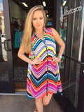 Uncle Frank Chevron Print Tunic