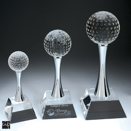 Golf Trophy with Slender Body