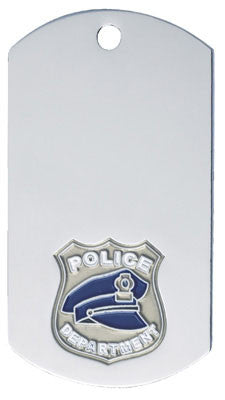 Police Dog Tag with chain