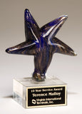 Blue Art Glass Star Award