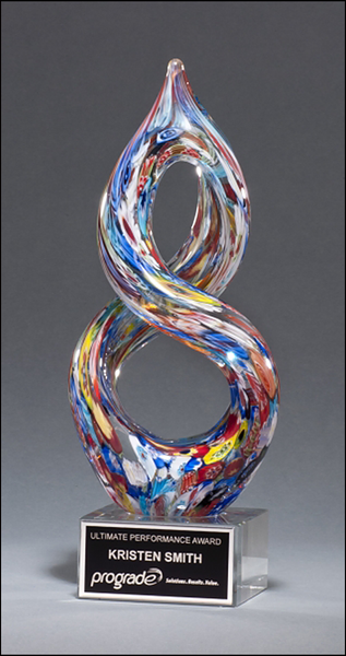 Helix-Shaped Multi-Color on Art Glass Award