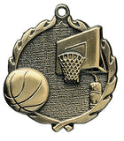 Basketball Wreath Medal