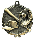 Baseball Wreath Medal