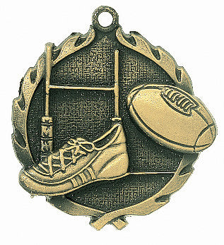 Rugby Wreath Medal