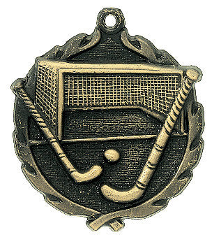 Field Hockey Wreath Medal
