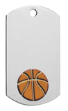Basketball Dog Tag with chain