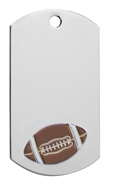 Football Dog Tag with chain