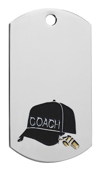 Coach Dog Tag with chain