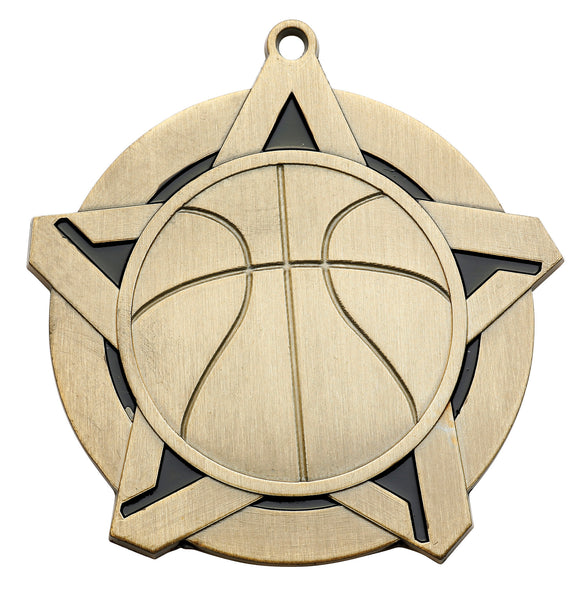 Basketball Super Star Medal