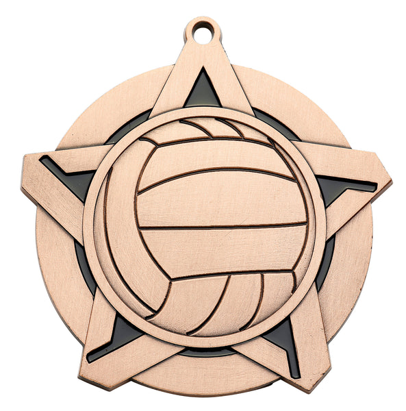 Volleyball Super Star Medal