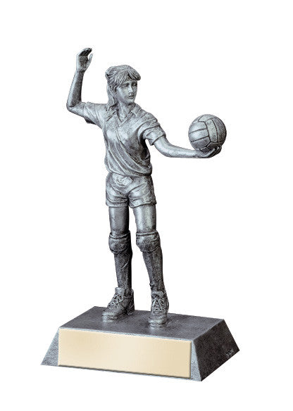 Volleyball Figure Silver Resin