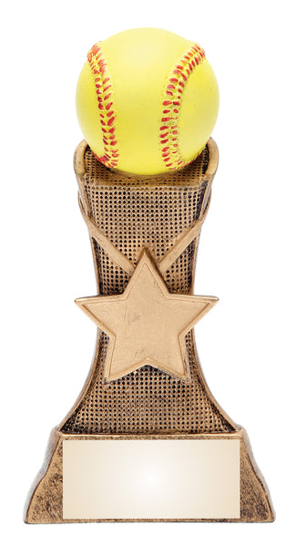 Softball Triumph Award with Star