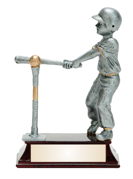 T-ball Silver Resin Figure Award