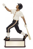 Baseball Action Color Resin Award