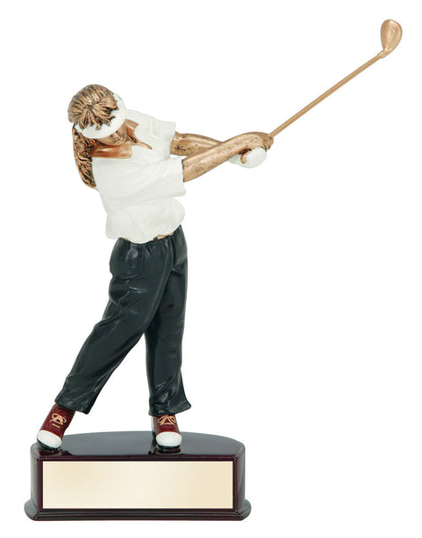 Golf Action Color Resin Award