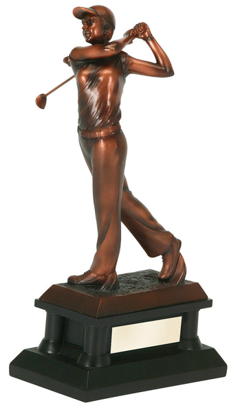 Bronze Female Golfer Figure