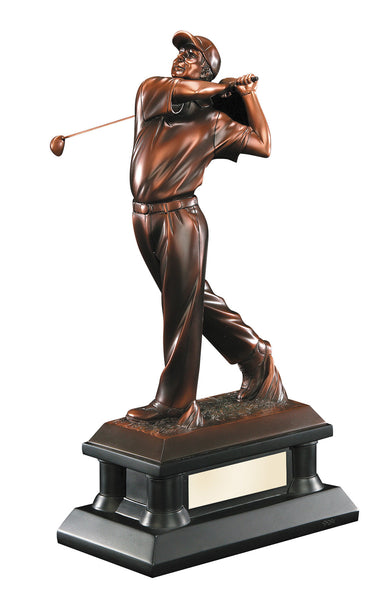 Bronze Male Golfer Figure