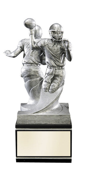 Football Double Action Black/Pewter Resin