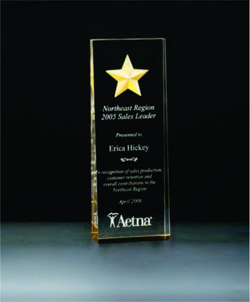 Constellation Award with etched gold star