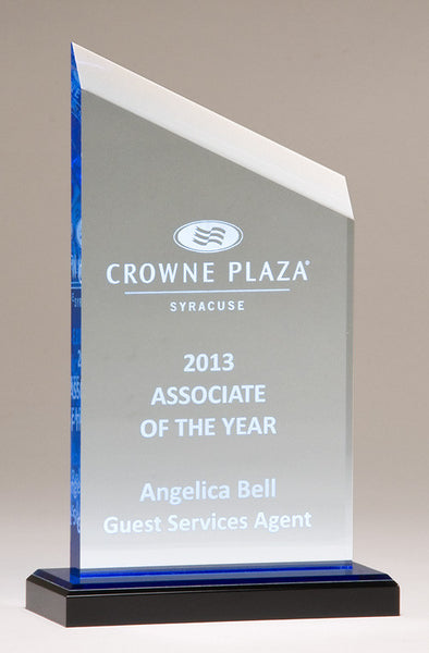 Acrylic Award Zenith Series with blue accents