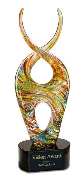 "14"" Color Twist Art Glass Award"