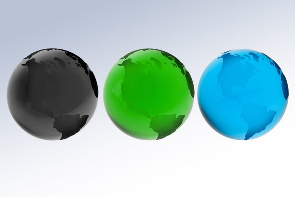 Colored Globe-Flat Bottom