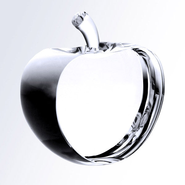 Crystal Apple with Flat Front