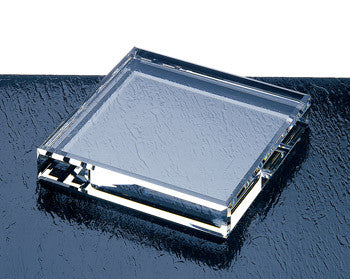 Beveled Square Paperweight