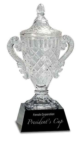 Crystal Cup on Black Pedestal Base