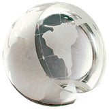 "3"" Crystal Globe Paperweight"